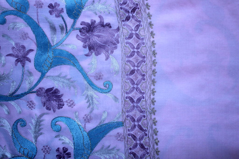 Classic Embroideries Shawl - Mawlana Cashmere & Silk