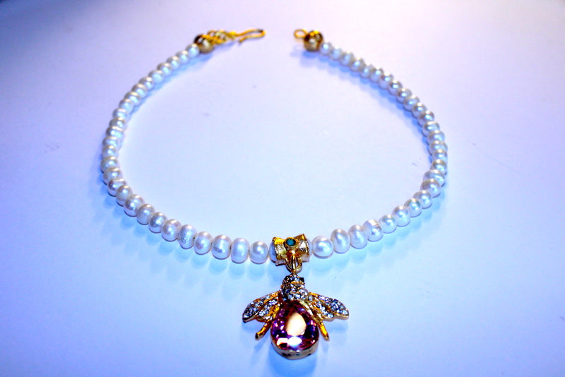 Queen Bee Pearl Necklace - Mawlana Cashmere & Silk