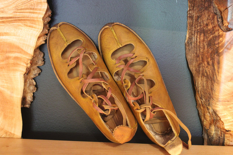 Honey Amber Handmade Leather Sandals Vegetable Tan - Mawlana Cashmere & Silk