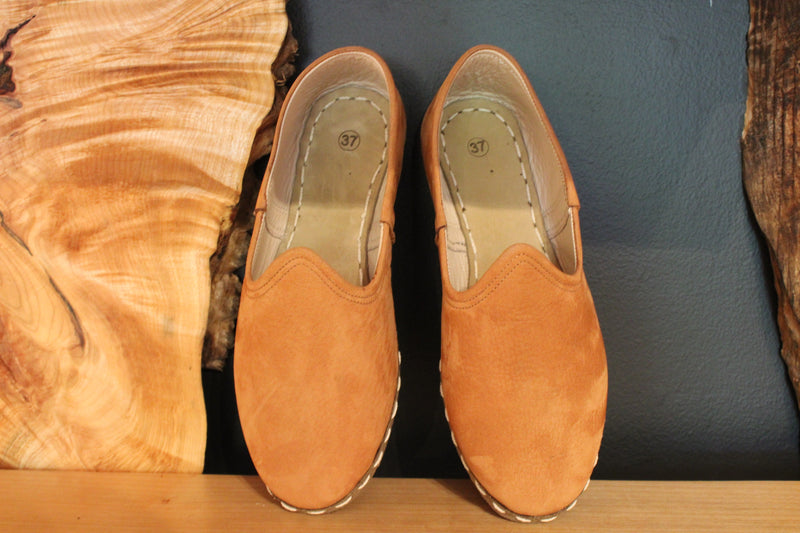 Copper Suede Handmade Leather Shoes - Mawlana Cashmere & Silk