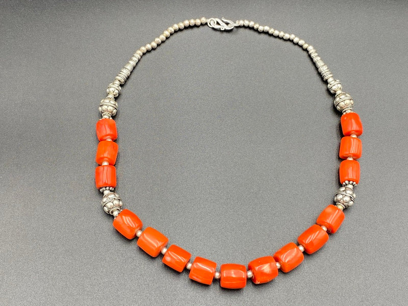 Handmade Aleppo Antique Necklaces - Merjan Mediterranean Coral Beads