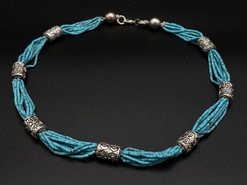 Handmade Aleppo Antique Necklaces -Byzantine Turquoise Beads