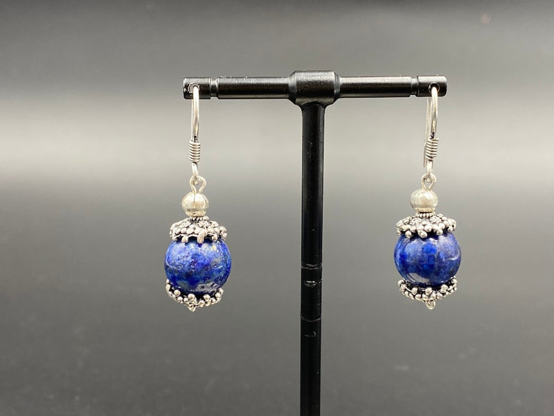 Handmade Aleppo Antique Earrings  - Heavy Earrings with Crystals - Globe Fruits