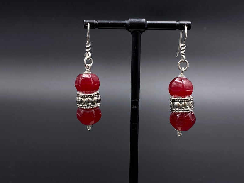 Handmade Aleppo Antique Earrings  - Heavy Earrings with Crystals - 2 Crystal Bulbs