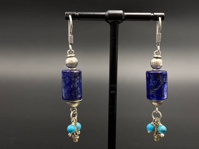 Handmade Aleppo Antique Earrings  - Heavy Earrings with Crystals - Symmetric