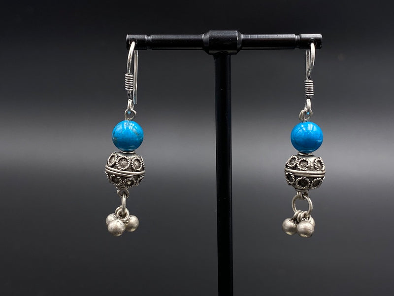 Handmade Aleppo Antique Earrings  - Heavy Earrings with Crystals - Bulb Chandelier