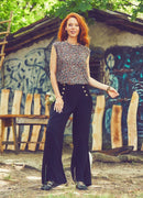 High Waist Palazzo Black Pants