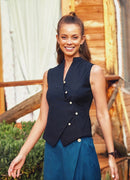 Zaggies - Simple Button Down Black Shirt Vest - Mawlana Cashmere & Silk