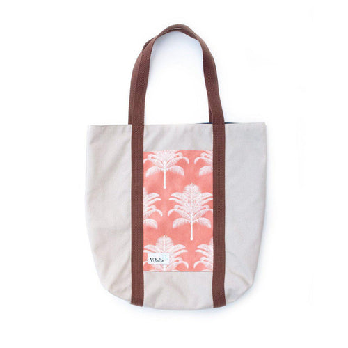 Pink Palm Trees Beach Tote