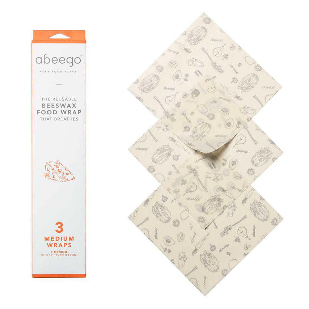 Beeswax Food Storage Wrap - Medium (3-Pack)