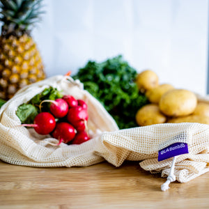 Organic Cotton Mesh Produce Bags (3-Pack)
