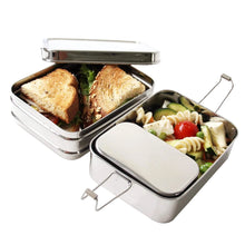 Load image into Gallery viewer, Three-in-One Classic Stainless Steel Lunch Box