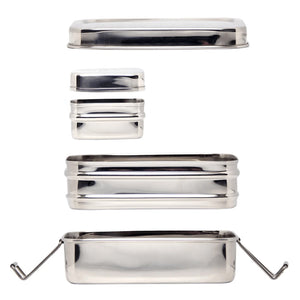 Three-in-One Classic Stainless Steel Lunch Box
