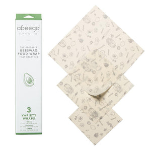 Beeswax Food Storage Wrap - Variety Pack