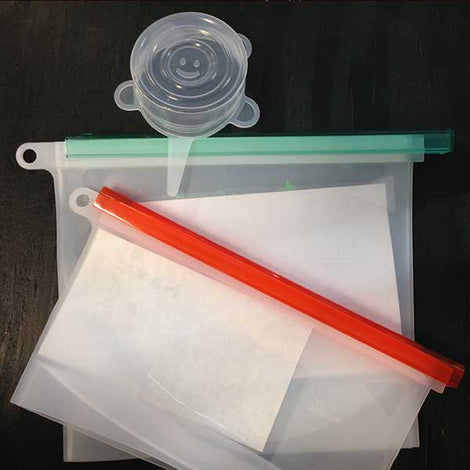 Silicone Bags & Lids