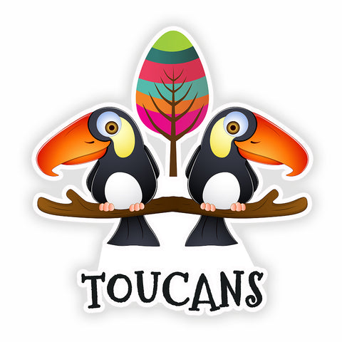 Toucan Sticker for Kids and Birder Adults - Tropical Bird 3x3 Inches