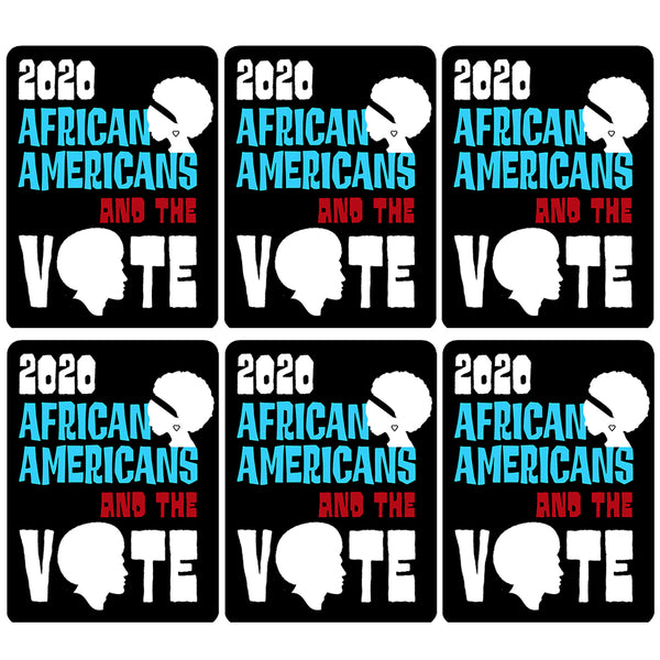 6-Pack 2020 Black History Theme African Americans and The Vote Sticker