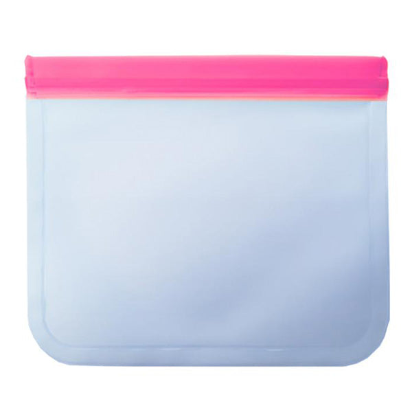 Reusable Zipper Food Storage Bags FDA-grade PEVA material - (PVC, lead, chlorine and BPA-free)