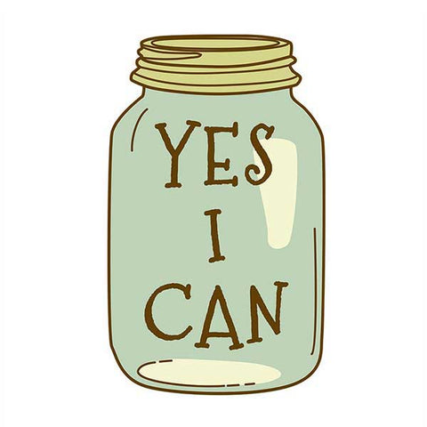 Yes I Can - Canning Season 2.5×4 Inch Sticker for Garden Farmers and Homesteaders, 1 Piece