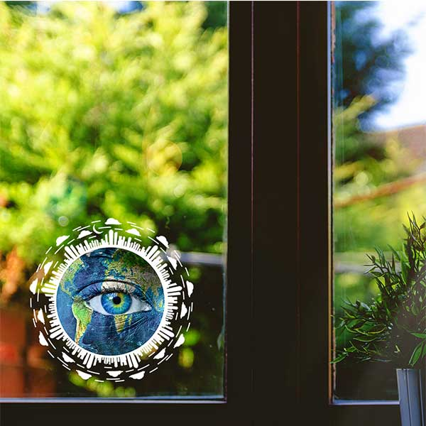 Eye on the Earth Sticker  - 5″x5″ Round for Earth Day