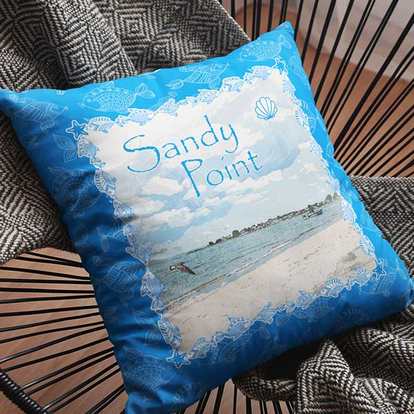 Sandy Point Throw Pillows for your CT / RI Shoreline Coastal Home