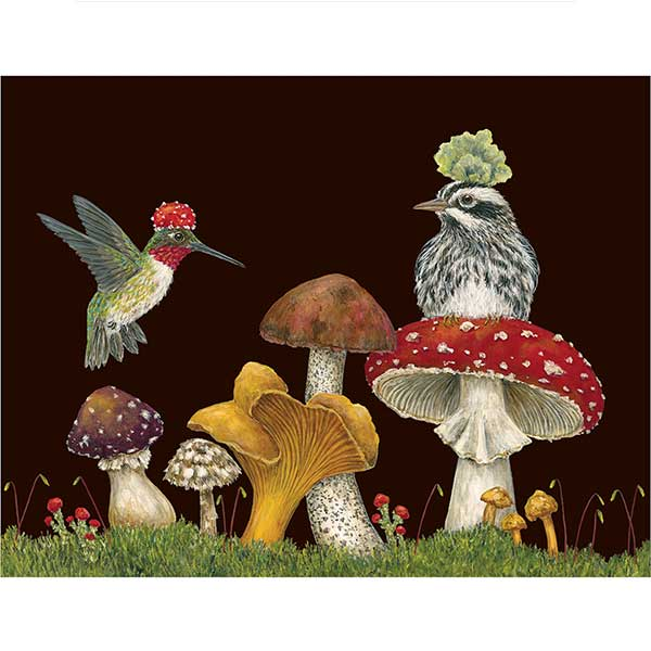 Two Fun Guys - Greeting or Note Card by Vicki Sawyer
