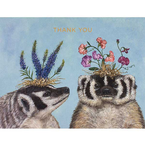 """THANK YOU BADGER SISTERS"" - Greeting or Note Card by Vicki Sawyer"