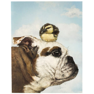 Buddah and Buddy - Greeting or Note Card by Vicki Sawyer