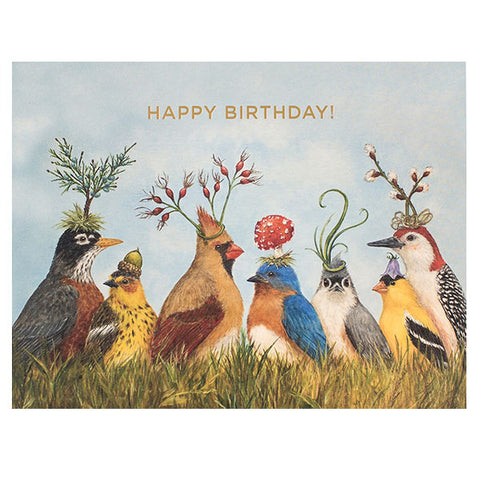 Angie's Party - Gold Foil - HAPPY BIRTHDAY! Greeting or Note Card by Vicki Sawyer