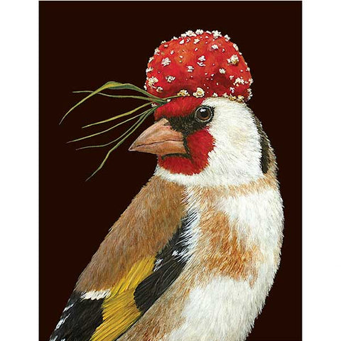 Chauncy the Goldfinch - Greeting or Note Card by Vicki Sawyer