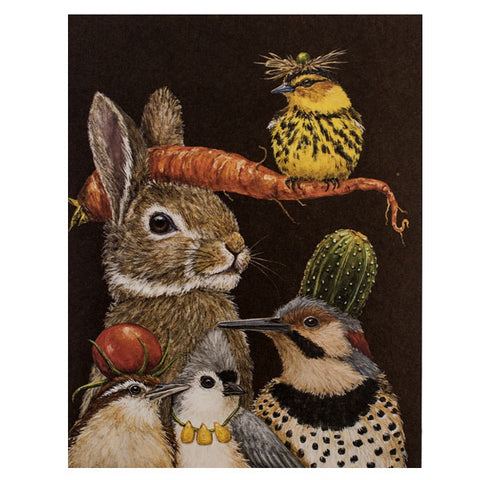 """Harvest Party"" - Greeting or Note Card by Vicki Sawyer"