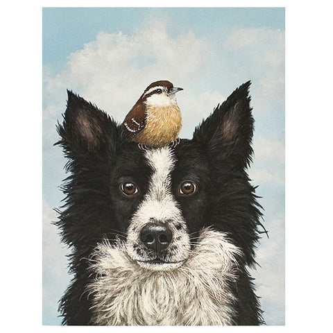 """Luther and Pip"" - Greeting or Note Card by Vicki Sawyer"