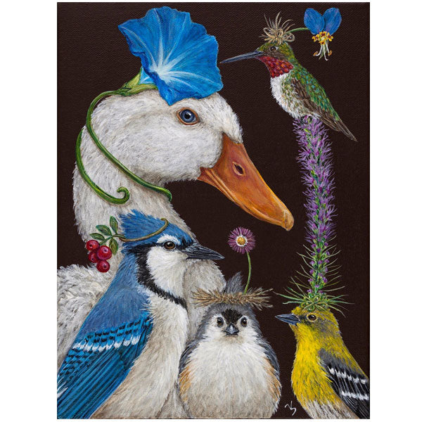 """Summer Party"" - Greeting or Note Card by Vicki Sawyer"