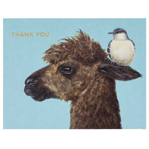 """Thank You Alpaca"" - Greeting or Note Card by Vicki Sawyer"