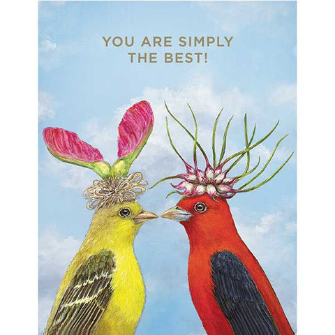 You Are Simply the Best - Greeting or Note Card by Vicki Sawyer