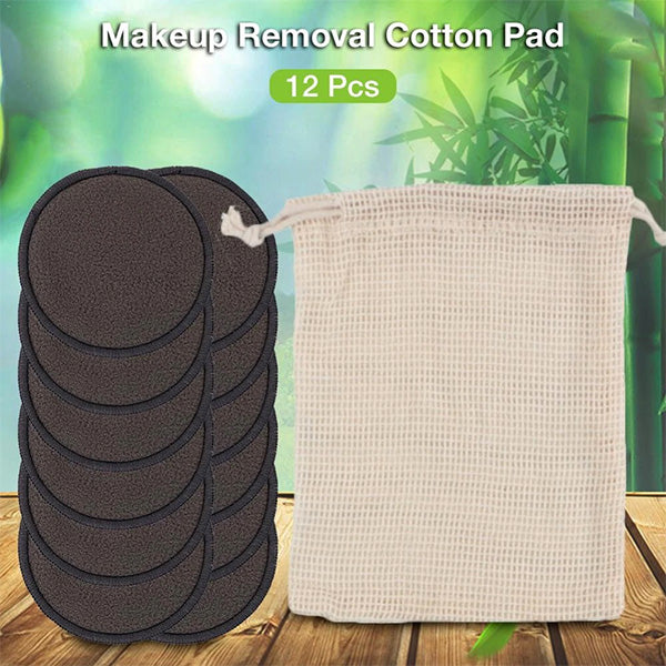 Reusable Bamboo Cotton Fiber Washable Round Facial Makeup Removal Pads
