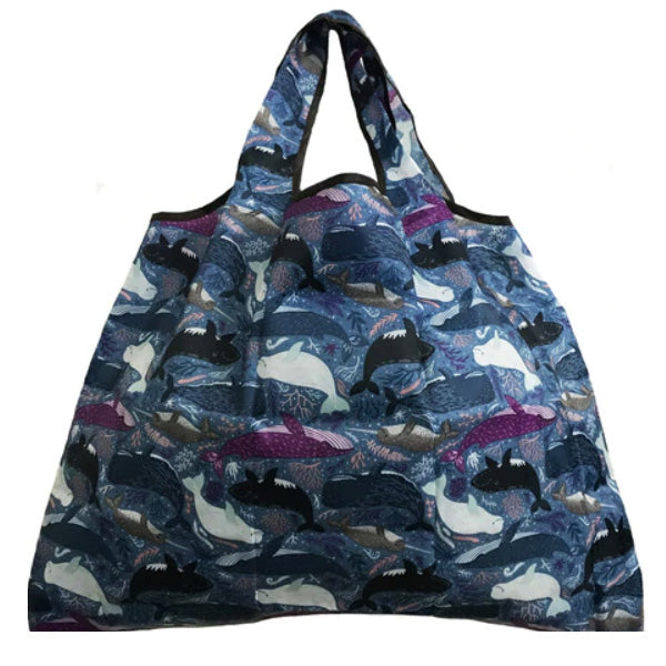 Reusable Bags in Compact Pouch - Holds Up to 35 Pounds - Many Patterns to Choose From
