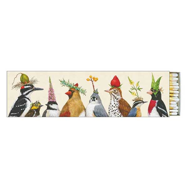 """Party Central"" Birds Gift-Boxed 40 Long Matches - Vicki Sawyer"