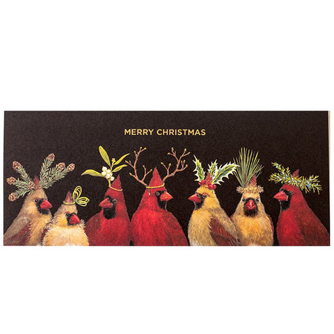 """Christmas Cardinals"" - Greeting or Note Card #10 size by Vicki Sawyer"