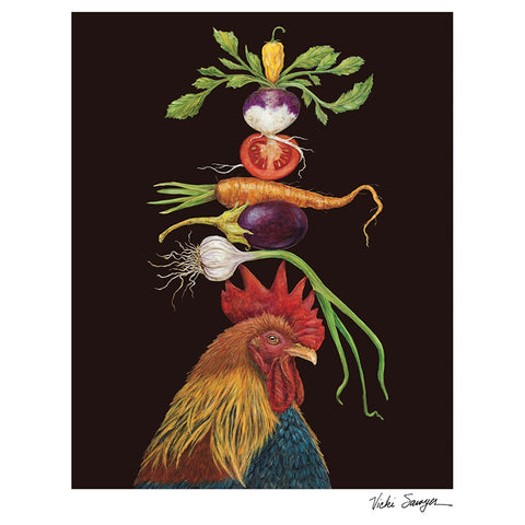 """Homer"" Rooster Art Print - 8.5"" x 11"" by Vicki Sawyer"
