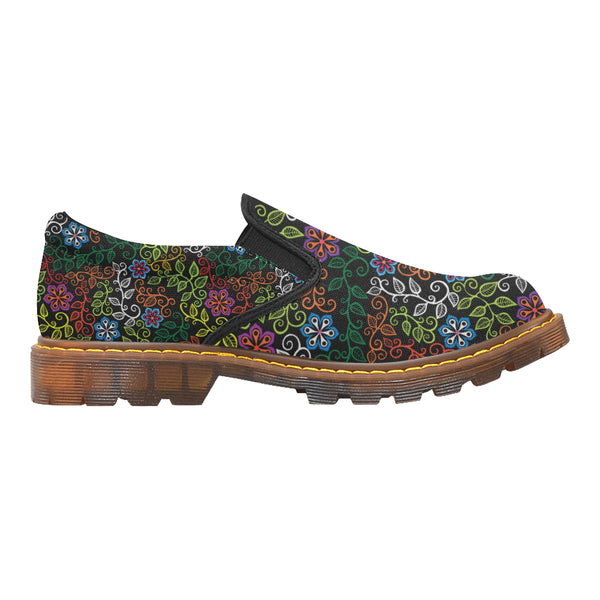 """Flowers and Vines"" Martin Women's Slip-On Canvas Shoe"