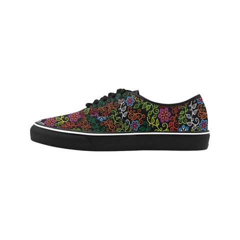 Flowers and Vines Women's Canvas Low Top Shoes