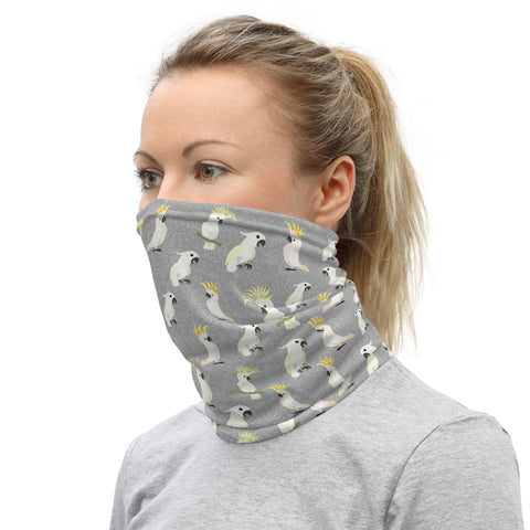 Cockatoo Parrot Face Covering Neck Gaiter Stylish and Functional - One Size Unisex