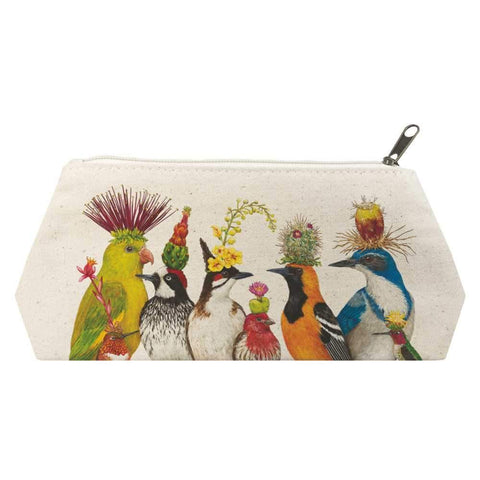 """The Entourage""  Canvas Cosmetic Bag - Vicki Sawyer"