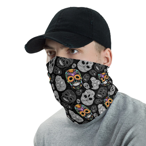 Day of the Dead (Día de Muertos) Bohemian Skull Neck Gaiter - Unisex One-Size