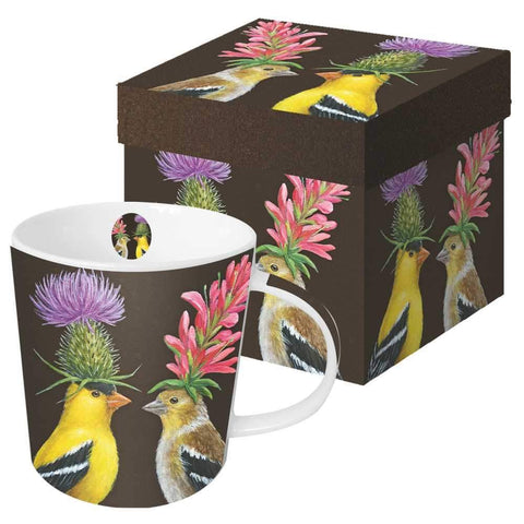 "Vicki Sawyer ""Goldfinch Couple"" Gift-Boxed Mug 13.5 oz"