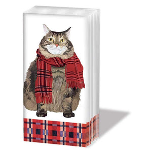 """HARRY"" SNIFF Cat With Winter Scarf Pocket Tissues 1-pack"