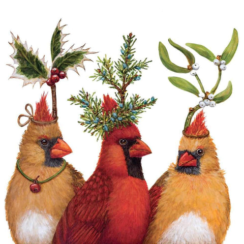 "Vicki Sawyer ""Holiday Party"" Christmas Cardinals 6.5in Paper Lunch Napkins"