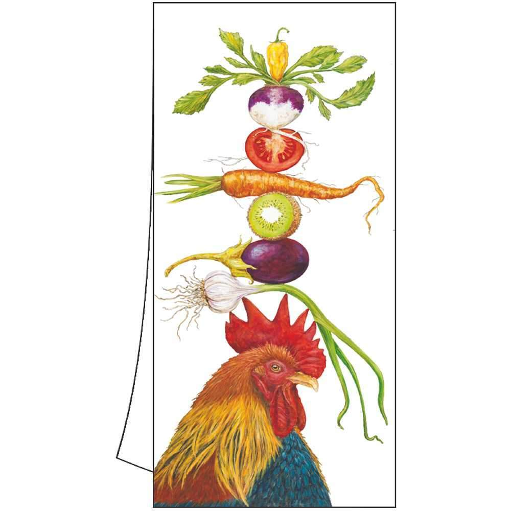 "Vicki Sawyer ""Homer the Rooster"" Cotton Kitchen Towel"