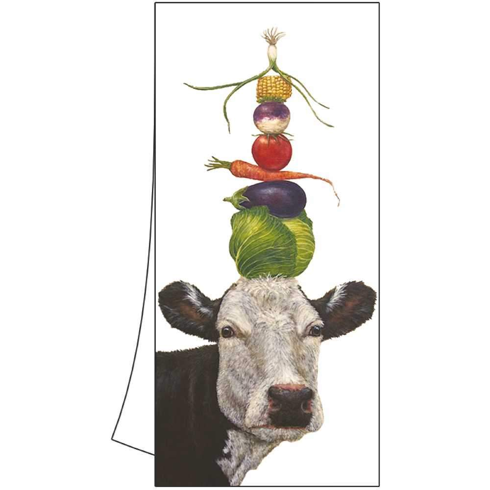 "Vicki Sawyer ""Ida"" Cow Cotton Kitchen Towel"